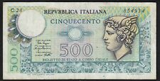 1979 500 Lire Italy Old Vintage Paper Money Banknote Currency Bill Note VF