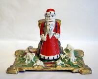 Christbaumständer mit Nikolaus / Santa um 1920   (# 4744)