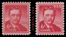 1039 1039a T. Roosevelt 6c Liberty Issue Wet Dry Print Variety Set MNH - Buy Now