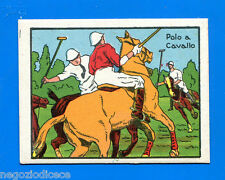A028 FIGURINA CARTONATA -Anni 50??- Figurina-Sticker - POLO A CAVALLO -New
