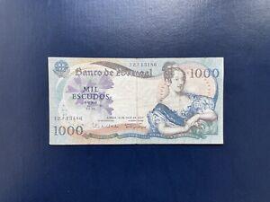 PORTUGAL Billet 1000 ESCUDOS 1967