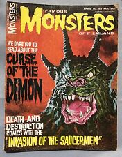 Famous Monsters Of Filmland #38 Curse Of The Demon Cover Vintage 1965