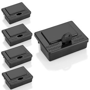 5 x Köderbox Mäuse Köderstation Maus Mäuseköderbox Sicherheit für Mensch u Tier