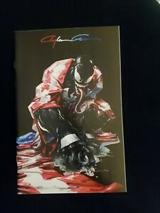 VENOM #27 CLAYTON CRAIN VIRGIN BLACK INFINITY SIGNED EXCLUSIVE 1