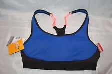 New Champion Black Blue High Support Compression Duo Dry Sports Bra Size M