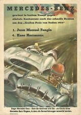 ⚙3016⚙ Mercedes-Benz Grand Prix of Italy 1954 genuine poster A4 size Hans Liska
