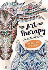 ART THERAPY ADULT COLOURING BOOK MENAGERIE & MORE