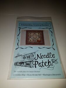 """Vtg 1986 FRIENDSHIP SEWING BASKET #101 by Needle Patch 30"""" Quilt uncut pattern"""