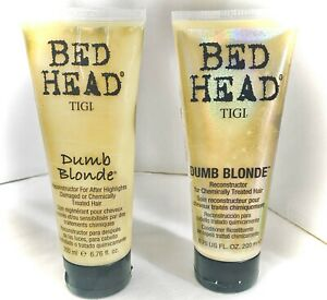 TIGI BEADHEAD Dumb Blonde Reconstructor for After Highlights 6.76 fl oz~LOT OF 2