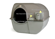 Omega Paw NRA15-1 Improved Roll 'n Clean Self Cleaning Litter Box, Regular, Pew