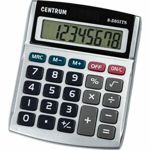 8 Digits Display Desktop Calculator, Dual Power with Sound Business & Accounts