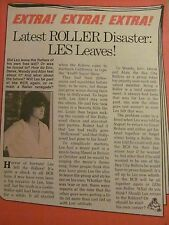Les McKeown, The Bay City Rollers, Full Page Vintage Clipping