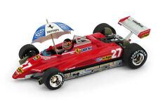 Ferrari 126 C2 G. Villeneuve 1982 #27 Brazil GP + Pilota & Ombrello Limited 1:43