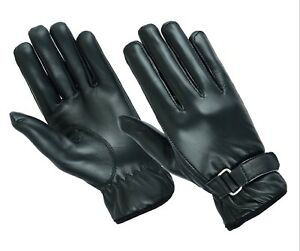 Mens Winter Fleece Lined Sheep nappa Leather Gloves