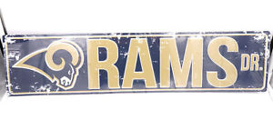 Los Angeles Rams DR Licensed NFL Distressed Street Aluminum Wall Man Cave Sign