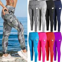 Yoga Pants Pockets High Waist Women Gym Leggings Sports Fitness Stretch Trousers