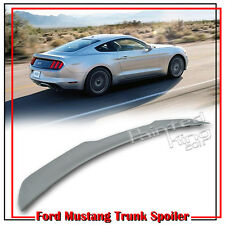 For Ford Mustang GT EcoBoost Coupe Unpainted V-Style Trunk Spoiler 15-19