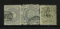 Brazil SC# 93-95, Used, Hinge Remnant, 93 vertical crease, see notes - S8093