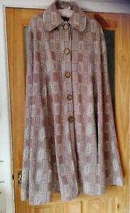 Ladies Vintage Cloak Cape Brown Long