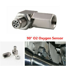 90°O2 Sensor Spacer Engine Light CEL Check Bung Mini Catalytic Converter M18X1.5