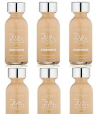 Lot 6 L'Oreal True Match Super Blendable Makeup Liquid Foundation W1 PORCELAIN