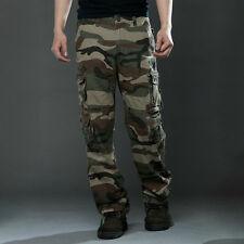 Military Men's Cotton Cargo Pants Combat Camouflage Camo Army Trousers Slacks
