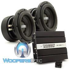 "pkg (2) SUNDOWN AUDIO E8 V.5 D4 8"" SUBWOOFERS SPEAKERS + SAE-600D BASS AMPLIFIER"