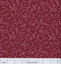 Gone With the Wind FILIGREE SCROLL Wine TOT Fabric By the FQ - 1/4 YD