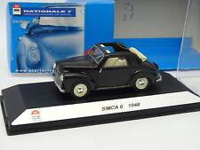Starter N7 Provence Resina 1/43 - Simca 6 1948 Negra