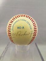 1980'S Early Career Cal Ripken Jr Signed Autographed Official AL Baseball PSA
