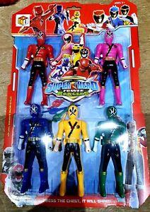Super Hero Power Rangers 6 In 1