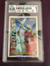 1995-96 Topps Mystery Finest Michael Jordan #M1 Refractor HGA 8 w/two 10 subs!🔥