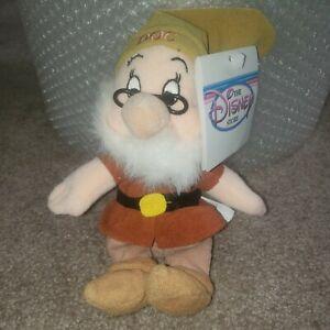 Disney Store Exclusive Snow White & The seven Dwarfs DOC bean bag toy free ship