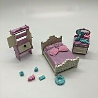 Precious Places Fisher Price Bedroom Furniture Key Magnetic Dollhouse Miniature