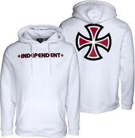INDEPENDENT  Women's Hoodie - 8  / Medium - Skateboard Hooded Top / White Hoody