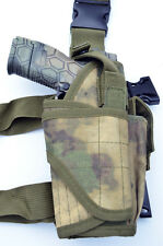 Tactical Leg Thigh Gun Pistol Holster or Open Carry Belt Holster ATACS FG Camo