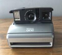 Vintage Slim Polaroid One Classic Instant 600 Film Camera Retro Silver - As Is