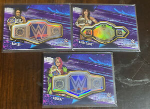 (Lot Of 3) 2020 Topps WWE Womens Division Championship Belt Plate Patch /99