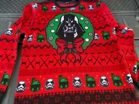 Star Wars Youth Teen Darth Vader Sweater Sz XL Storm Troopers Xmas NWOT