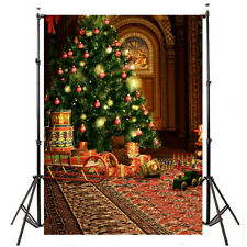 3x5ft Classic Xmas Tree Photography Backdrop Background Vinyl Clotn Props