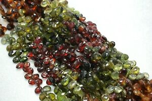 Natural Tundra Sapphire faceted briolettes pear shape gemstone loose beads 9""