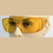 Extra Large Fit Over for Rx Glasses Sunglasses Safety Night Driving yellow Lens