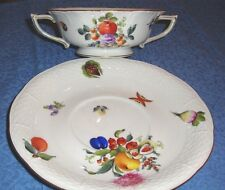 Herend Cream Soup w/Underplate in Fruits & Flowers Pattern  #743/BFR