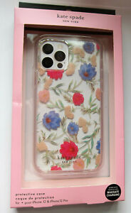Kate Spade Protective clear CASE iPhone 12 & 12 PRO Flower Blossom Multicolor NE