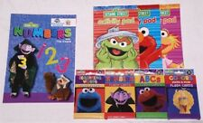 Lot of 4 Flash Cards with Activity Pads and Numbers Sesame Street Cookie Monster