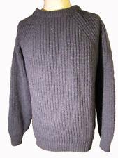 chunky sweater 100% british wool fisherman style supersoft shetland made in uk