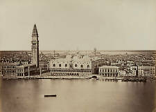 OLD LARGE PHOTO Panorama Of Venice
