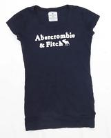 Abercrombie & Fitch Womens Size 8 Cotton Blue T-Shirt (Regular)
