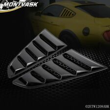 1/4 Quarter Side Window Louver Scoop Cover For 2015-2017 Ford Mustang GT V6