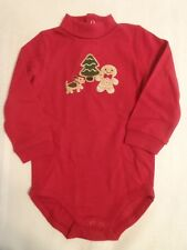 GYMBOREE 6-12 Month Red Gingerbread Boy Bodysuit NWT